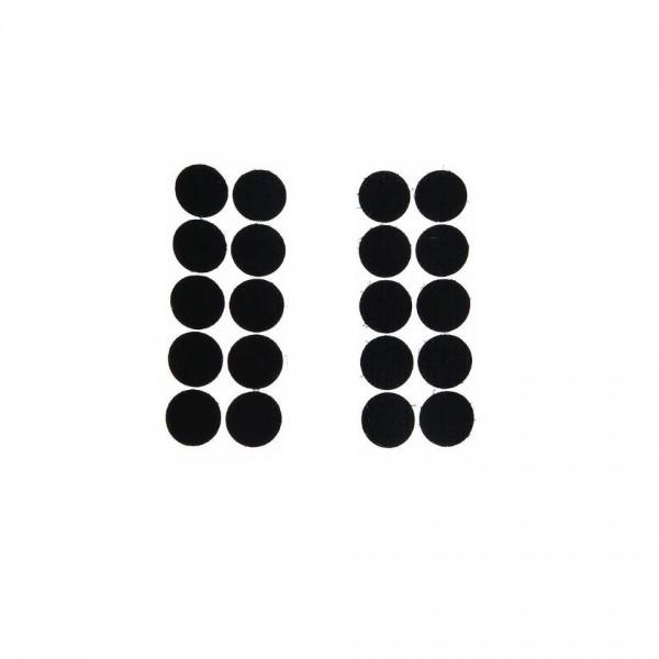 Buline arici, puf si scai, autoadezive, set de 10 perechi, 15 mm, negru