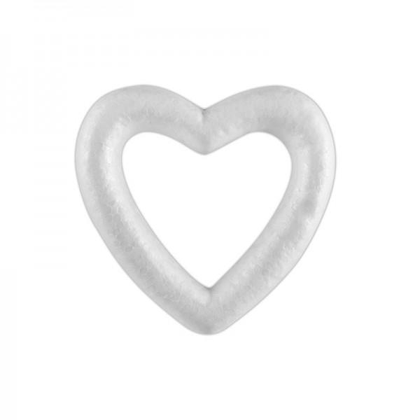 Inima polistiren, culoare alb, 10 x 11.5 cm