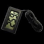Termometru digital cu un senzor pe cablu, de culoare negru, lungime fir sonda 1 metru