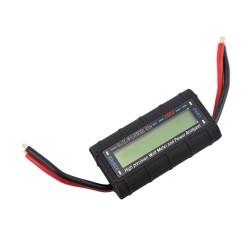 Voltmetru, Watt metru si ampermetru, multifunctional, multimetru digital, 4.8 - 60 V, 130 A, foarte precis, de culoare negru