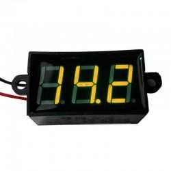 Voltmetru digital mic leduri galbene, 3.5 - 30 V, waterproof, rezistent la apa